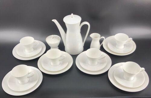 Rosenthal Germany Continental Classic Modern White Coffee Set w/ Salad Plates