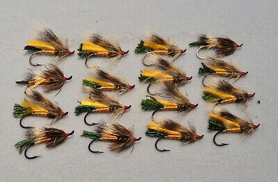 3 V Fly 1 Inch Copper Ultimate RV Allys Shrimp Salmon Tube Flies /& Trebles