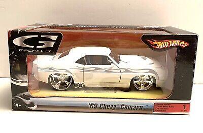 NEW Hot Wheels 69 Chevy Camaro 1:24 White Car G Machines New Editions Series 1