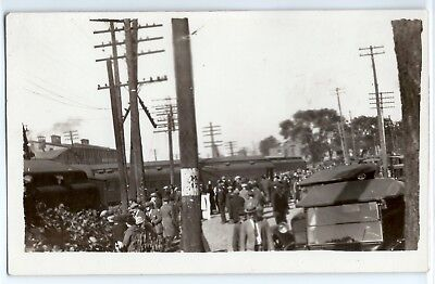 1924 Michigan Central Railroad train crash Kalamazoo photo postcard RPPC #2 for sale  Grand Rapids