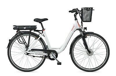 TELEFUNKEN RC657-S City Pedelec weiß E-Bike Damen Citybike 36V 13AH