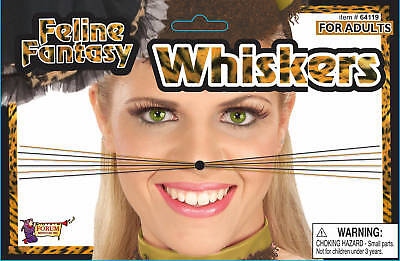 FELINE FANTASY WHISKERS CAT LEOPARD TIGER ADULT HALLOWEEN COSTUME ACCESSORY](Cat Whiskers Costume)
