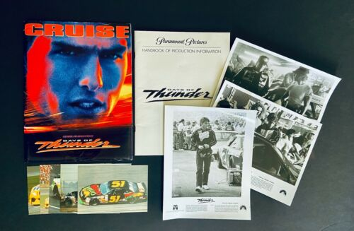 Original 1990 Paramount Pictures Days of Thunder Press Kit w/ Photos & Postcards