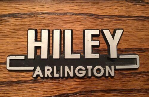 Vintage HILEY ~ Arlington, Texas Car Dealer Dealership Plastic Emblem