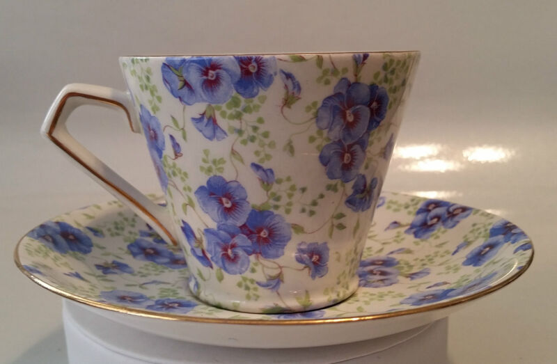 LORD NELSON WARE - CUP & SAUCER - PANSY CHINTZ