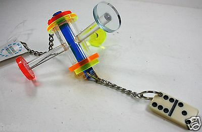 PET BIRD ACRYLIC TRI PERCH DOMINO FUN ACTIVITY FOR CAGE MEDIUM TO LARGE