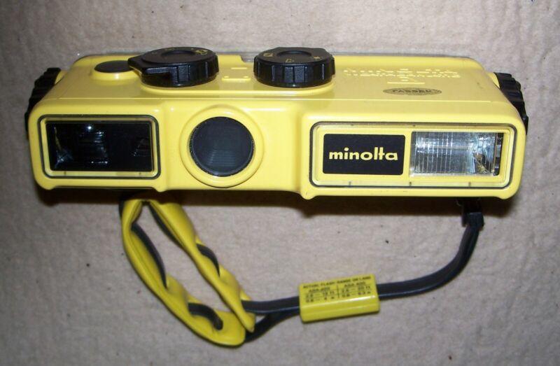Minolta Weathermatic A Underwater Camera, Clean, Good Condition, Wrist Strap
