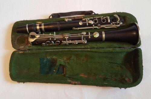 Antique/Vintage Wood Clarinet w/ Case RARE
