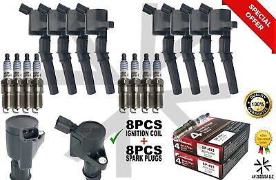 Ignition Coils for F150 Expedition Mustang + Spark plug SP493 DG508 DG-508 SP493