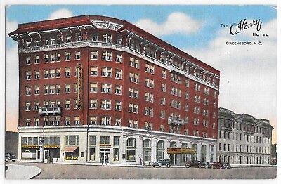 The O'Henry Hotel Greensboro NC North Carolina Linen Kropp Vintage Postcard