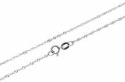 "SOLID 14K WHITE GOLD SINGAPORE CHAIN ANKLET 9"" ONLY $39.99"