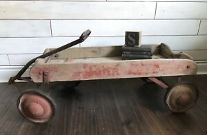 Vintage Wooden Wagon - Great Photo Prop, Rustic Decor