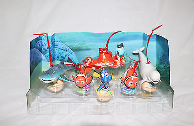 Disney Finding Dory 6pc Ornaments Figure Set Nemo Dory Hank Destiny Marlin New