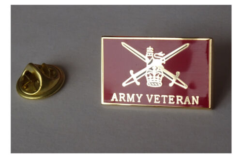 British Army Veteran pin badge - lapel badge HM Armed forces veteran