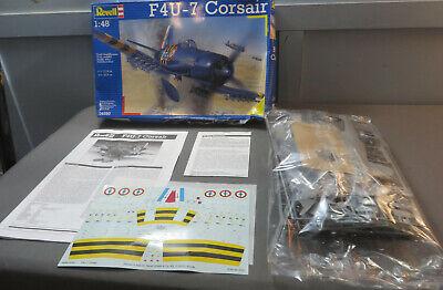 Revell 1:48 F4U-7 Corsair Model Kit 04590 Open Box