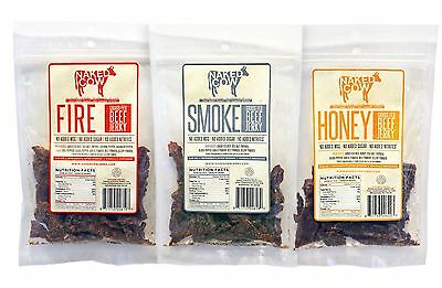 Grass Fed Beef Jerky NAKED COW High Protein Low Fat No MSG No Sugar Rated (Best Grass Fed Proteins)