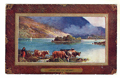 Lough Fee - Co. Galway Art Postcard 1909