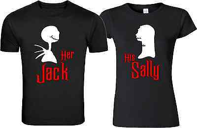 Happy Halloween Her Jack HIS SALLEY   couple matching funny cute tee - Cute Halloween Couples