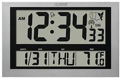 "513-1211 La Crosse Technology 4"" Time Display Atomic Digital Clock - Refurbished"