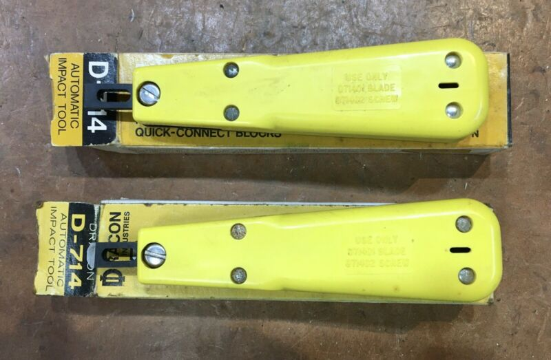 Pair Of New In Box • Dracon D714 Punch Down Impact Tools
