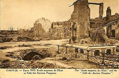 CPA - Belgique - Ieper - Ypres - 1919 - Ecole moyenne
