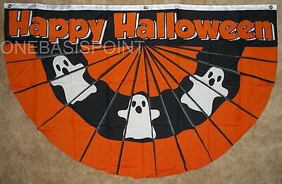 3'x5' Happy Halloween Bunting Flag With Ghosts Parade Banner Holidays New 3X5 - Halloween Bunting