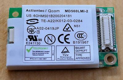 Actiontec / QCom MD560LMI-2 internes 56k Laptop Modem Laptop Modem 56k