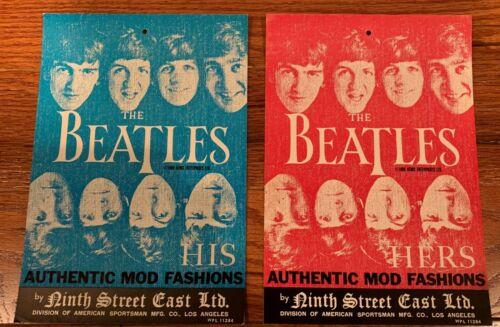 2 Original 1966 Beatles Clothing Hang Tag (His & Hers) - free shipping