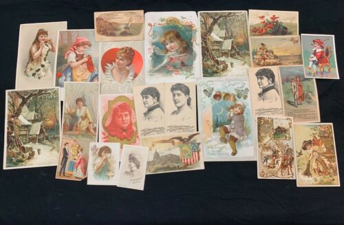 (23) Genuine 19th Century Coffee Advertising Trade Cards