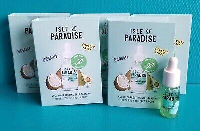 5X Isle of Paradise Self-Tanning Drops Medium Golden Glow Travel Size 0.14oz/4ml