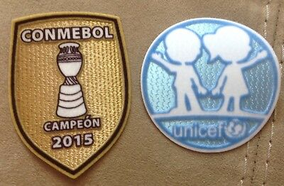2015 COPA America CHAMPIONS soccer patch CONMEBOL campeon Badge for chile jersey image