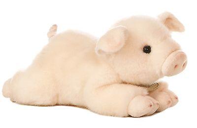 "Miyoni Pink PIG Piglet 8"" Plush Stuffed Farm Barnyard Animal by Aurora NEW"