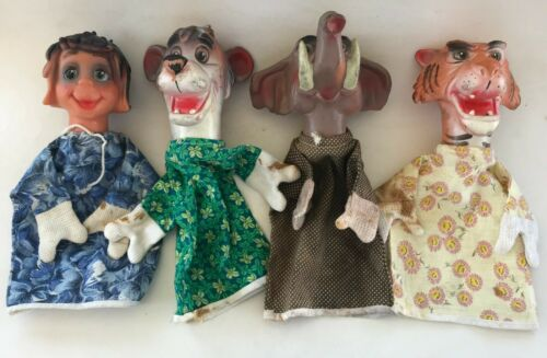 WALT DISNEY THE JUNGLE BOOK COMPLETE SET HAND PUPPET ARGENTINA FRANZI 1968
