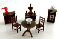 Miniatura Para Casa De Muñecas 1:48 Escala Plástico Muebles De Cocina Juego -  - ebay.es