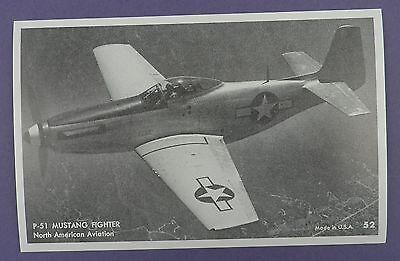 P-51 Mustang Fighter North American Aviation Postcard -Unused Vintage Stock Item