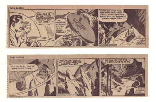 Twin Earths by Al McWilliams - 26 scarce daily comic strips, Complete Sept. 1953