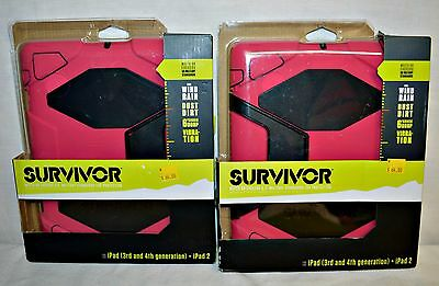 NWT Heavy Duty Griffin Survivor All-Terrain Case & Stand for iPad Air Pink