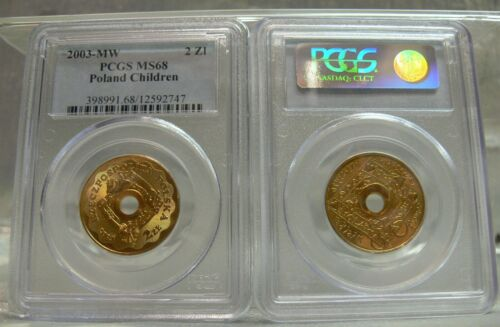 2003 MW 2 Zlote Poland PCGS MS68 WOSP Highest Grade by PCGS