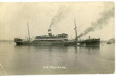 British India Line's MANDALA of 1915 at anchor
