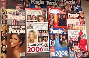 People Magazine Yearbooks '01-'13 great collection! Price drop!