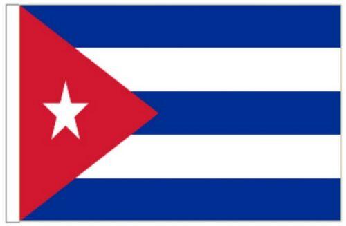 Cuba Sleeved Courtesy Flag ideal for Boats 45cm x 30cm