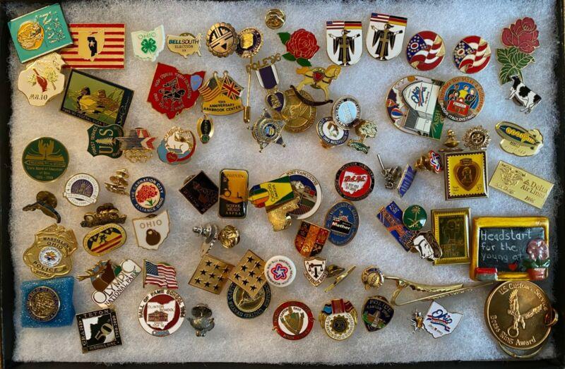 80 lapel pins lot - From Congressman Ralph Regula