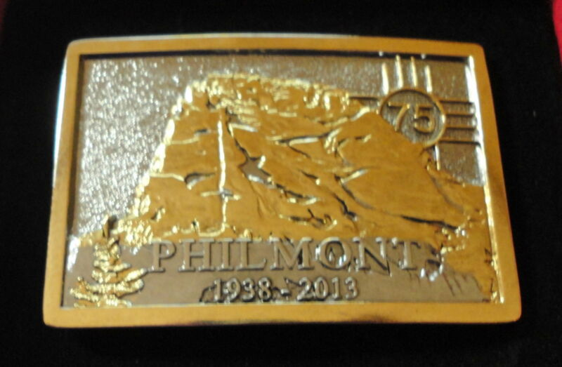 Philmont Scout Ranch 75th Anniversary Indiv Numbered 2-Tone Belt Buckle w/ Case