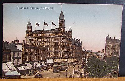 1931 City Street Scene Postcard - North Belfast Northern Ireland