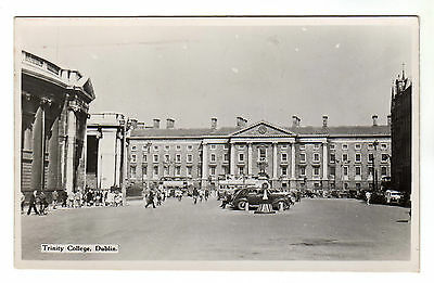 Trinity College - Dublin Real Photo Postcard 1953