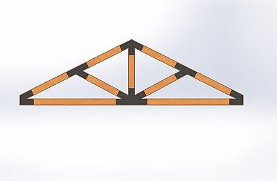 Custom Truss Plates Made From 14 Steel. Build Your Own Timber Trusses