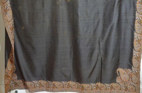 ANTIQUE Paisley KASHMIR Hand Woven SHAWL UU932