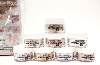 Cuccio Nail Dipping Powder Polish Dip BARE NUDITY Neutral/Glitters .5oz/14g ~8ct
