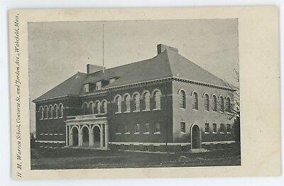H M Warren School, WAKEFIELD MA Massachusetts Vintage Postcard for sale  Mechanicsburg