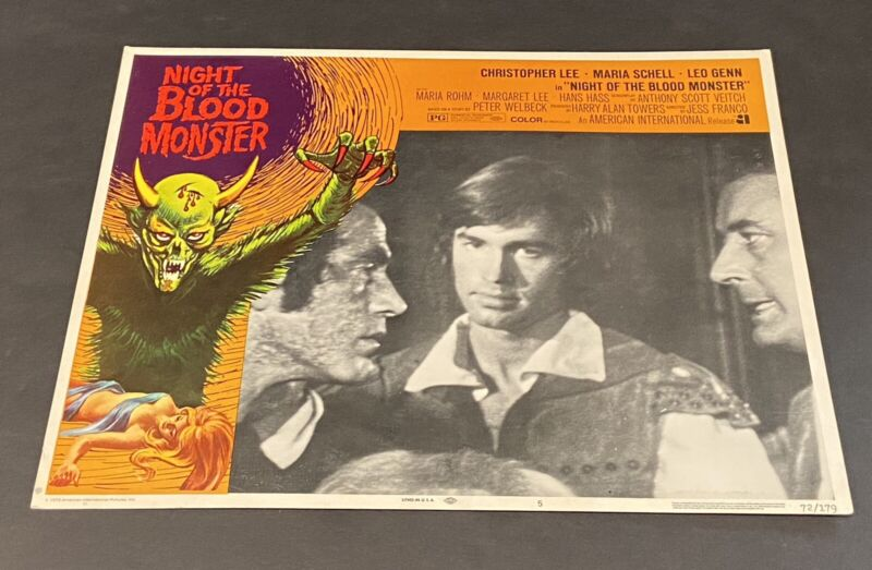 Night of the Blood Monster Lobby Card #5 1972 Christopher Lee-Maria Schell